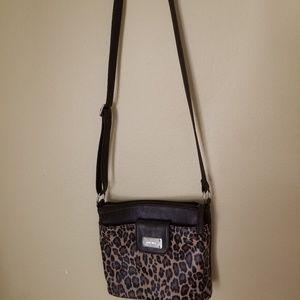 Leopard print Nine West crossbody purse